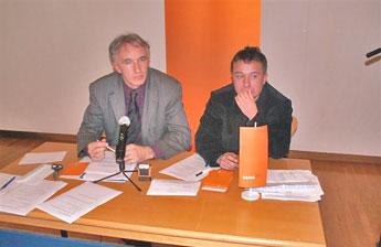 Predsednik Jože Podržaj (levo) in sekretar Klemen Vitkovič (desno)